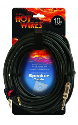 SP14-10-BA - 14AWG Speaker Cable (10', Banana-QTR)