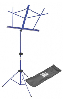 SM7122DBB - Compact Sheet Music Stand (Dark Blue, w/ Bag)