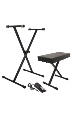 KPK6550 - Keyboard Stand and Bench Pack w/ Keyboard Sustain Pedal
