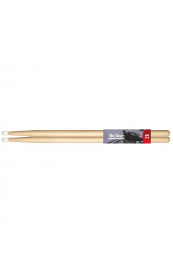 AMH2BN - American Made Hickory Drumsticks (2B, Nylon Tip, 1 Pair)